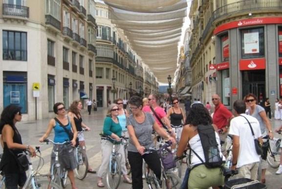 wine bike tour Malaga city
