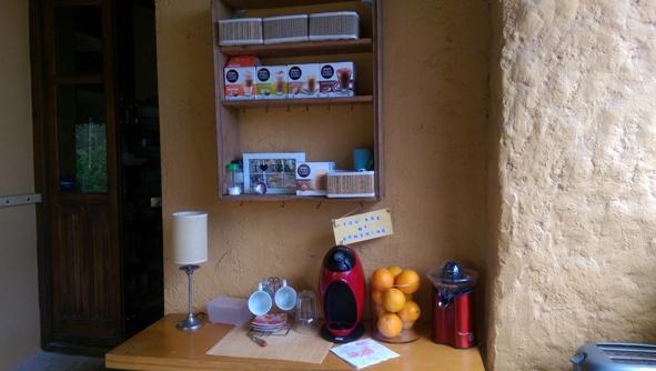 Help yourself to coffee & juice