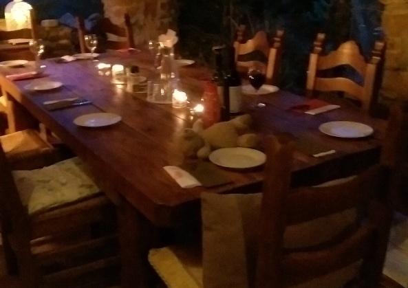 Inviting setting for dinner