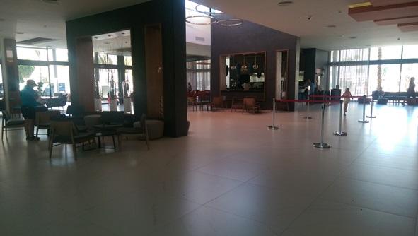 Reception and Rebujito lobby bar.